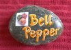paint a BELLPEPPER Vegetable Rock Garden Marker small1