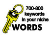 research and find up to 700 keywords, with searches and CPC, in your niche