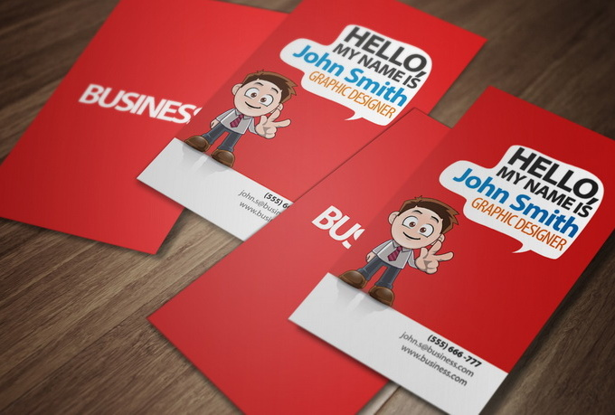 Character Design Business Card : Design a unique cartoon character business card fiverr