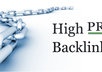 give you a list of 90 free high page rank directories PR5 and higher and bonus backlinks