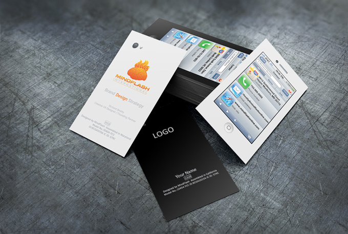create 2 different iPhone business cards in 4 hours fiverr
