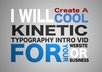create a cool typography intro video for your website or business small1