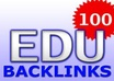 create over 100 EDU Backlinks for your website, get edus from blogs through comments and submit urls to premium indexing service