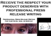 write a press release new story of your product or website  of small1
