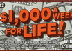 buy a 1,000 A Week For Life Illinois state lottery ticket and mail it to you