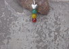 make you jade heart  Rasta earrings