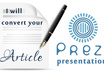 convert your articles into Prezi presentation