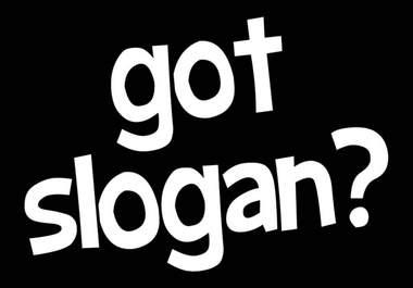 slogan writing and designing
