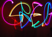 write your name in light graffiti using glowsticks