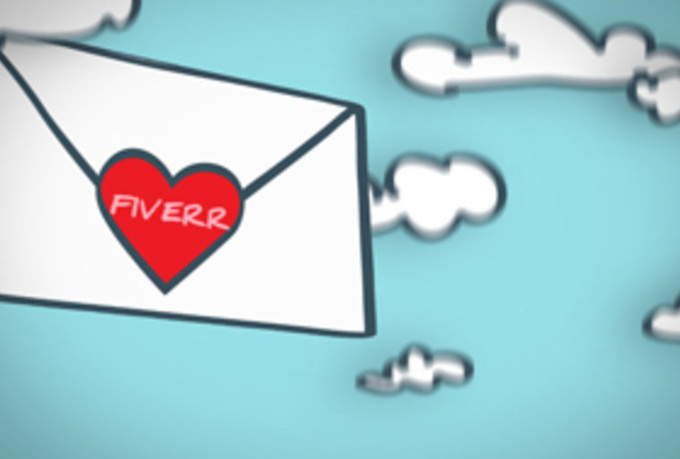 make this CUTE 2D Valentines Day Love Letter greeting video for your business or loved ones