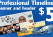 create Professional Facebook timeline cover Image,Banner,Headers