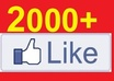 give you 2000+ Facebook Likes or Fans to your Fanpage, facebook likes
