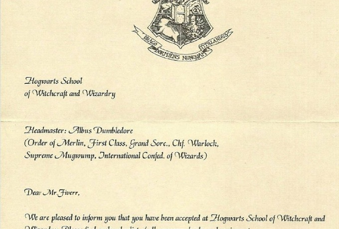Create A Personalized Hogwarts Acceptance Letter For You