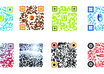 create as many as you want QR codes coloreful or black and white
