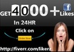 deliver 4000+ facebook likes within 24 hours fastest on fiverr