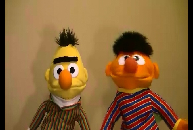 have ernie and bert send a special BIRTHDAY greeting