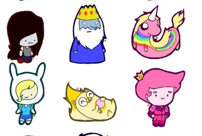 how to draw adventure time style characters